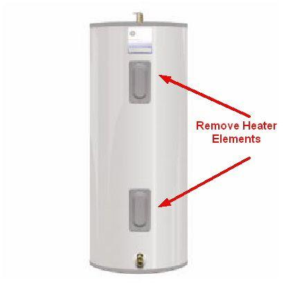 Electric Hot Water Tank with Two Heater Elements