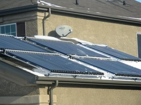 Solar Water Heating Project Installation