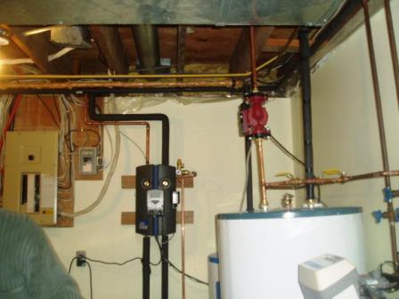 Solar Heat Stored Tank and Pump Installation